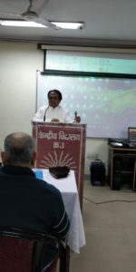 Dhyanacharya Ajay Jain in a Meditation workshop for Central School teachers